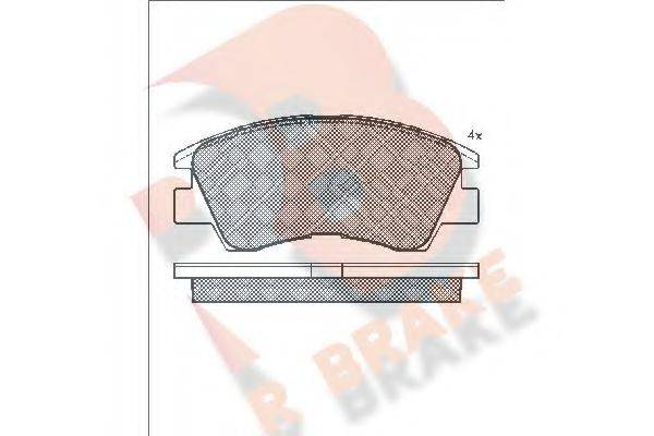 R BRAKE RB0791 Комплект тормозных колодок, дисковый тормоз