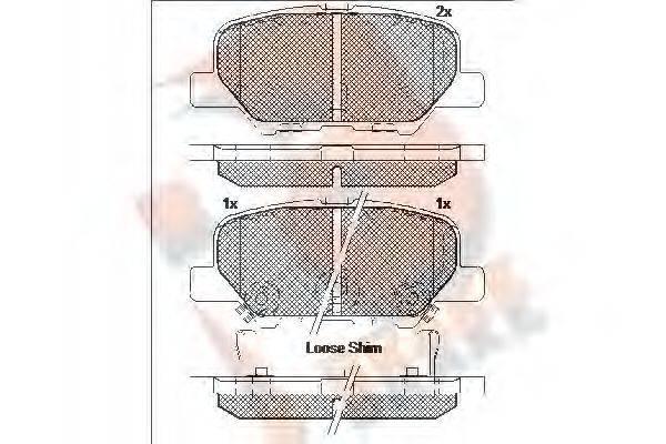 R BRAKE RB2118 Комплект тормозных колодок, дисковый тормоз