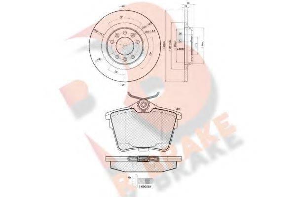 R BRAKE 3R16584609 Комплект тормозов, дисковый тормозной механизм