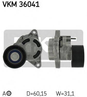 SKF VKM36041 Натяжной ролик, поликлиновой  ремень