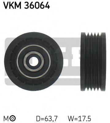 SKF VKM36064 Натяжной ролик, поликлиновой  ремень
