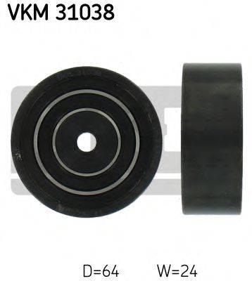 SKF VKM31038 Паразитный / ведущий ролик, поликлиновой ремень