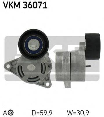SKF VKM36071 Натяжной ролик, поликлиновой  ремень
