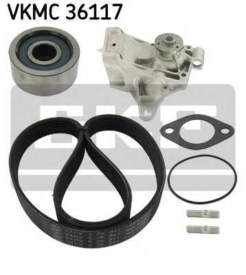 SKF VKMC36117 Водяной насос + комплект ручейковых ремней