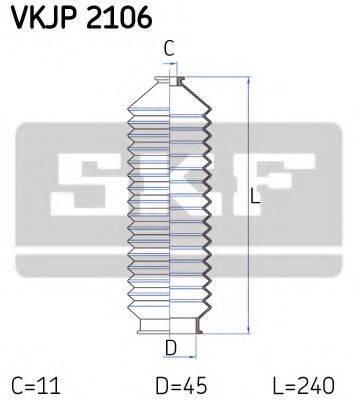 SKF VKJP2106 Комплект пылника, рулевое управление