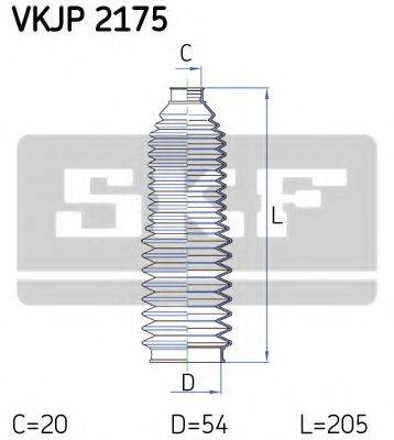 SKF VKJP2175 Комплект пылника, рулевое управление