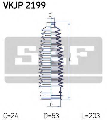 SKF VKJP2199 Комплект пылника, рулевое управление