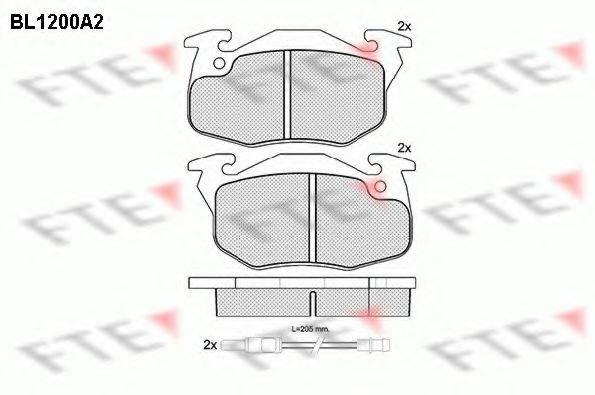 FTE BL1200A2 Комплект тормозных колодок, дисковый тормоз