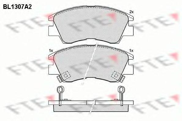 FTE BL1307A2 Комплект тормозных колодок, дисковый тормоз