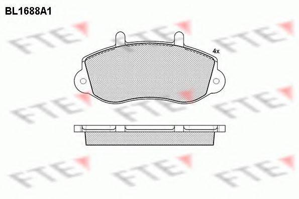 FTE BL1688A1 Комплект тормозных колодок, дисковый тормоз