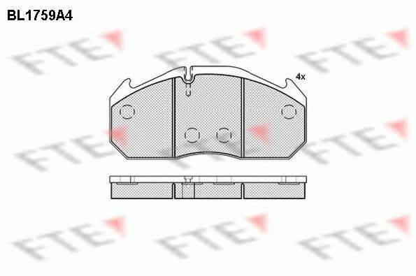 FTE BL1759A4 Комплект тормозных колодок, дисковый тормоз