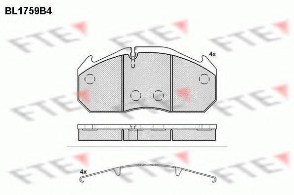 FTE BL1759B4 Комплект тормозных колодок, дисковый тормоз