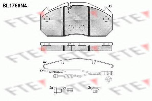 FTE BL1759N4 Комплект тормозных колодок, дисковый тормоз