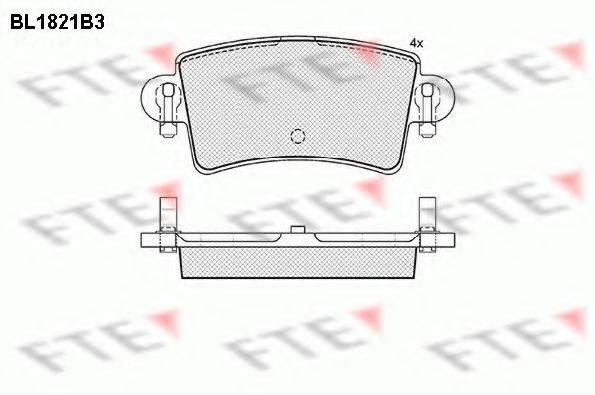 FTE BL1821B3 Комплект тормозных колодок, дисковый тормоз