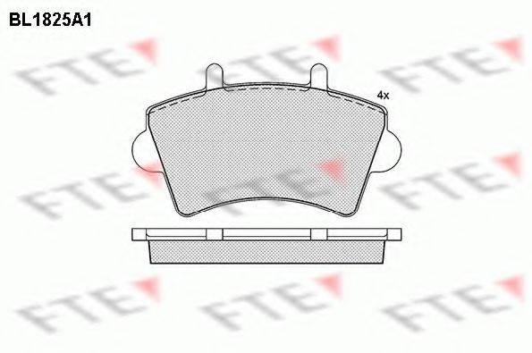 FTE BL1825A1 Комплект тормозных колодок, дисковый тормоз