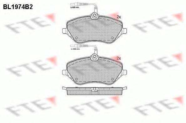 FTE BL1974B2 Комплект тормозных колодок, дисковый тормоз