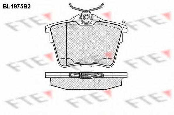 FTE BL1975B3 Комплект тормозных колодок, дисковый тормоз