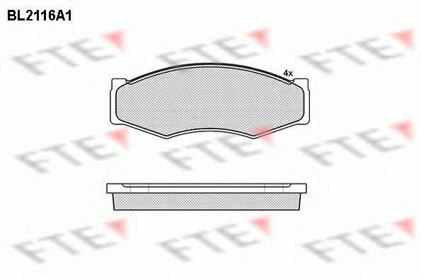 FTE BL2116A1 Комплект тормозных колодок, дисковый тормоз