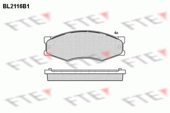 FTE BL2116B1 Комплект тормозных колодок, дисковый тормоз