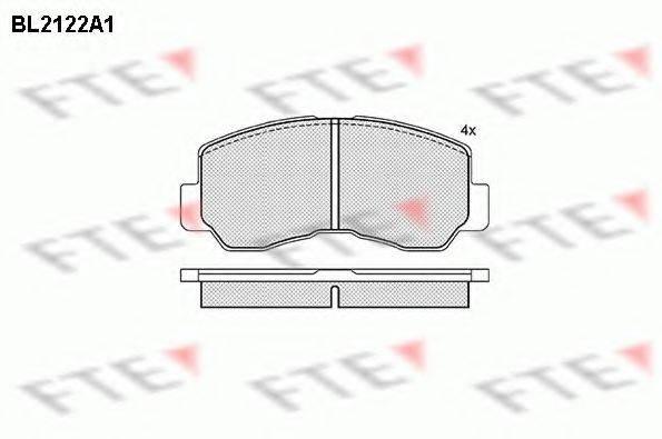 FTE BL2122A1 Комплект тормозных колодок, дисковый тормоз