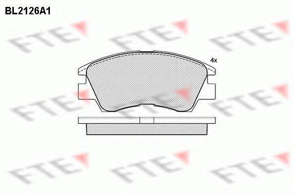 FTE BL2126A1 Комплект тормозных колодок, дисковый тормоз