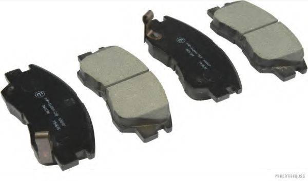 HERTH+BUSS JAKOPARTS J3605027 Комплект тормозных колодок, дисковый тормоз