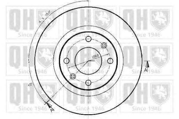 QUINTON HAZELL BDC3247 Тормозной диск