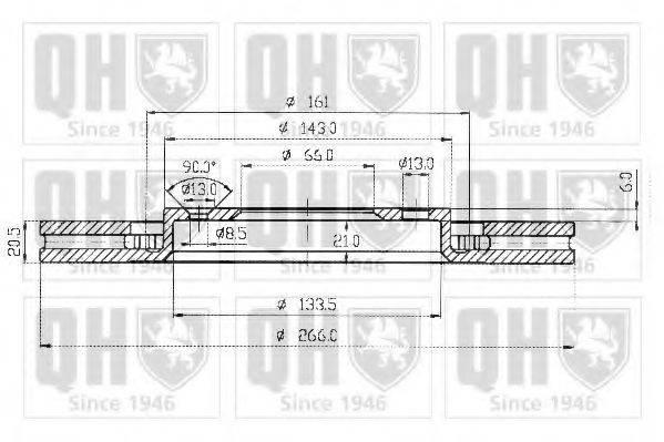 QUINTON HAZELL BDC3508 Тормозной диск