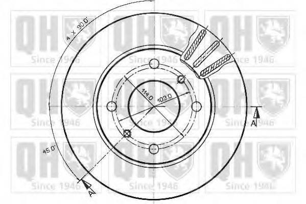 QUINTON HAZELL BDC3538 Тормозной диск