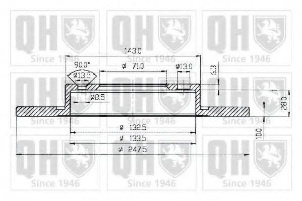 QUINTON HAZELL BDC3690 Тормозной диск