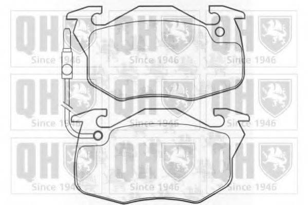 QUINTON HAZELL BP361 Комплект тормозных колодок, дисковый тормоз