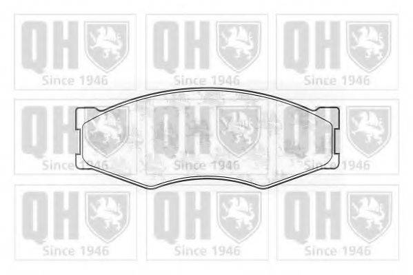 QUINTON HAZELL BP366 Комплект тормозных колодок, дисковый тормоз