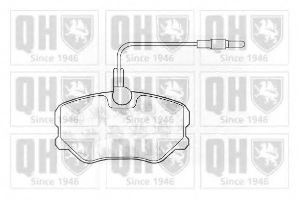 QUINTON HAZELL BP455 Комплект тормозных колодок, дисковый тормоз