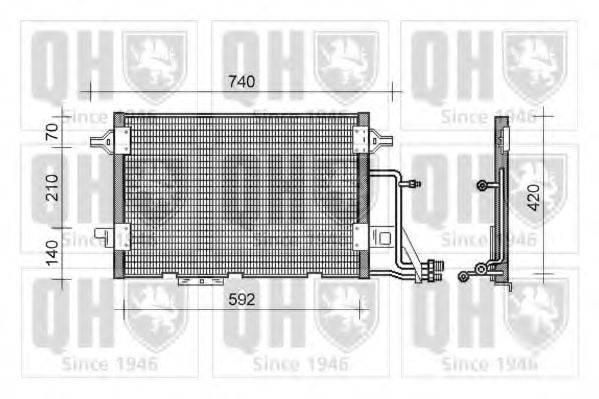 QUINTON HAZELL QCN136 Конденсатор, кондиционер