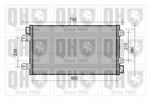QUINTON HAZELL QCN378 Конденсатор, кондиционер