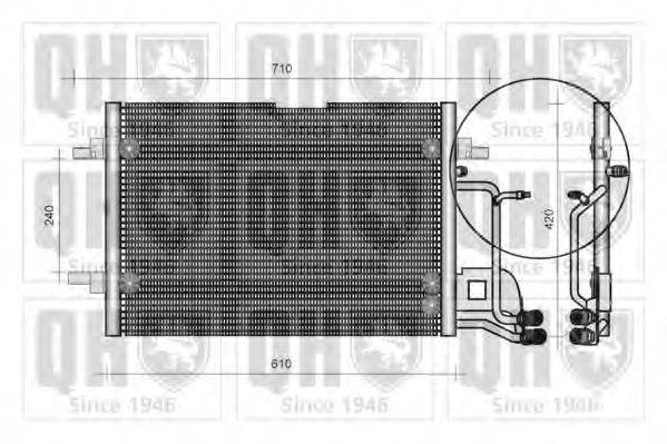 QUINTON HAZELL QCN43 Конденсатор, кондиционер