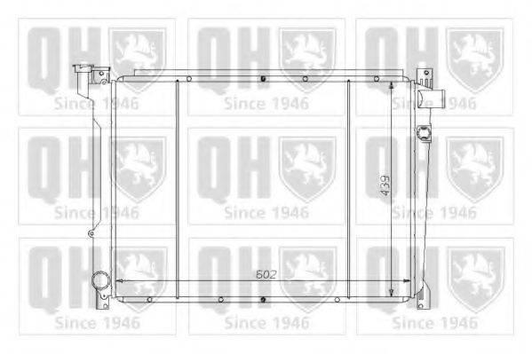 QUINTON HAZELL QER1213 Радиатор, охлаждение двигателя