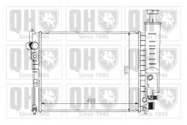 QUINTON HAZELL QER1259 Радиатор, охлаждение двигателя