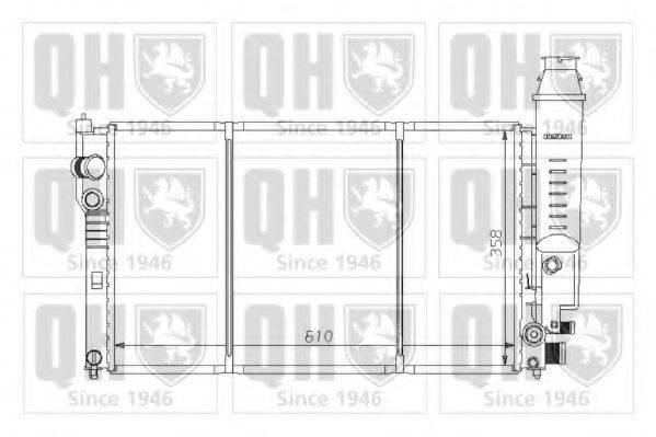 QUINTON HAZELL QER1282 Радиатор, охлаждение двигателя