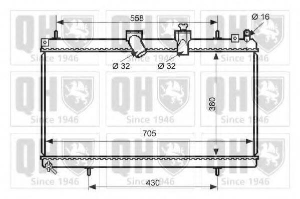 QUINTON HAZELL QER2478 Радиатор, охлаждение двигателя