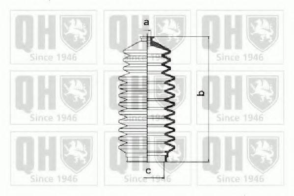 QUINTON HAZELL QG1236 Комплект пылника, рулевое управление