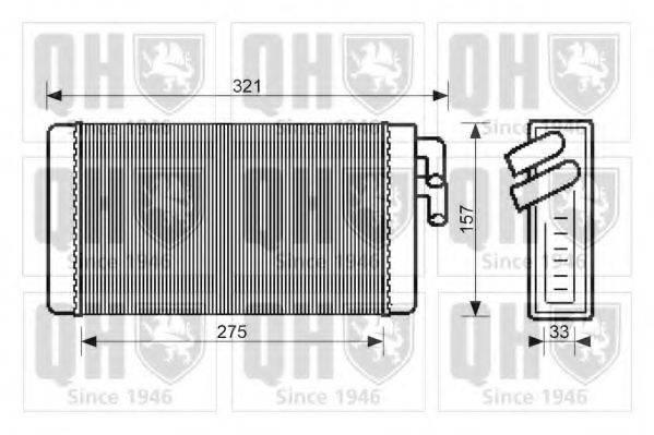 QUINTON HAZELL QHR2068 Теплообменник, отопление салона