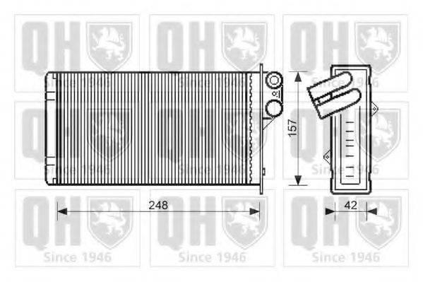 QUINTON HAZELL QHR2104 Теплообменник, отопление салона