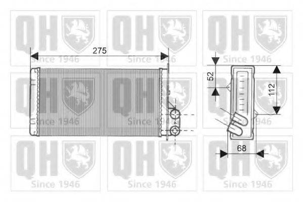 QUINTON HAZELL QHR2145 Теплообменник, отопление салона
