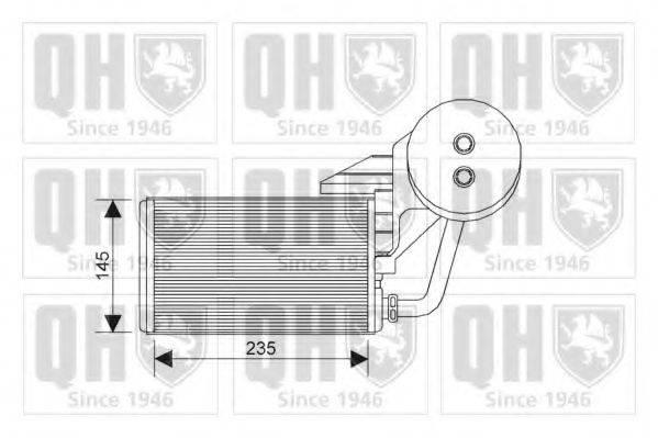 QUINTON HAZELL QHR2216 Теплообменник, отопление салона
