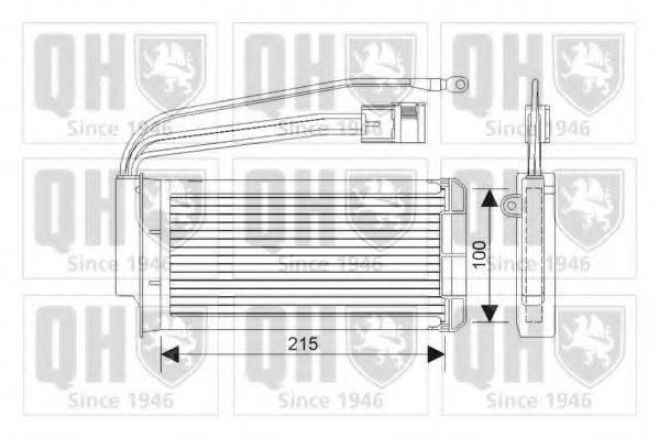 QUINTON HAZELL QHR2217 Теплообменник, отопление салона