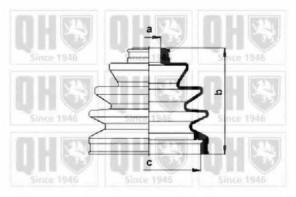 QUINTON HAZELL QJB288 Комплект пылника, приводной вал