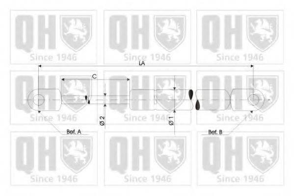 QUINTON HAZELL QTS128191 Газовая пружина, крышка багажник; Газовая пружина, капот