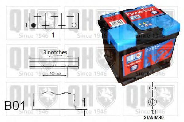 QUINTON HAZELL QBT2503 Стартерная аккумуляторная батарея