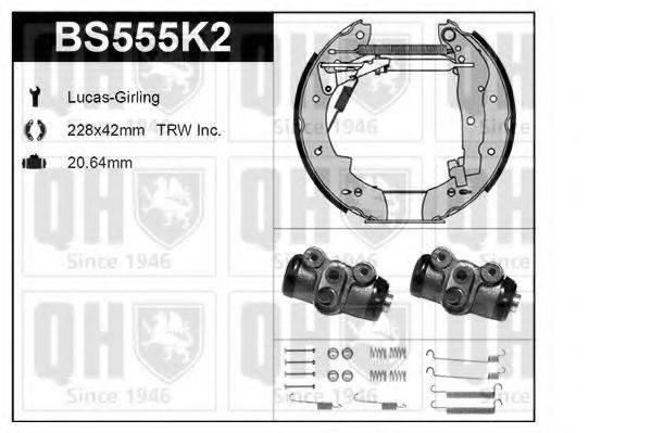 QUINTON HAZELL BS555K2 Комплект тормозов, барабанный тормозной механизм